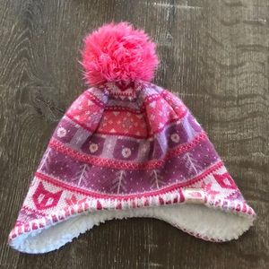 Infant girl North Face beanie